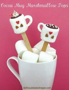 cocoa mug marshmallow pops/stirrers...super cute!