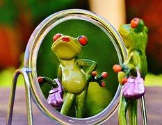 Pauze spelletje spiegelbeeld