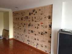 Newspapers wall