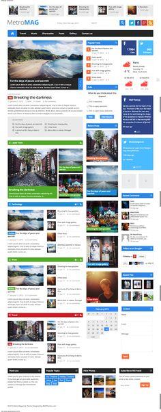 Metro Magazine Responsive WordPress Theme #wordpress #responsive