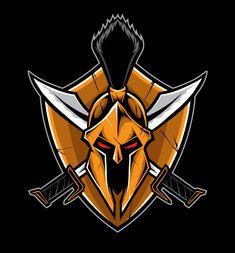 Spartan Logo, Shield Icon, Warriors Wallpaper, Game Wallpaper Iphone, Spartan Warrior, Game Logo Design, Logo Line, Cool Logo, Logo Design Inspiration