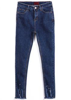 Slim Pockets Denim Pant