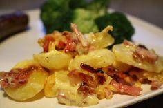 Gerechten zonder pakjes en zakjes #38. Aardappel Anders Bacon-ui - Dutch Recipes, Bacon, Pasta Salad, Potato Salad, Macaroni And Cheese, Foodies, Dinner Recipes, Potatoes, Snacks