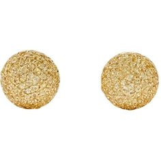 Pre-owned 1885 18-karat Gold Pave Sapphire Earrings ($2,974) ❤ liked on Polyvore featuring jewelry, earrings, accessories, gold, carolina bucci jewelry, sapphire jewelry, yellow sapphire earrings, pre owned jewelry and sapphire earrings