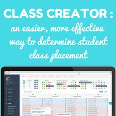 Student class placement can range from difficult to downright frustrating. Good thing a group of elementary school teachers designed Class Creator --a system that will make the whoe process easier and simpler Classroom Routines, Classroom Management Strategies, Classroom Procedures, Teaching Strategies, Teaching Tips, Class Management, Teacher Humor, Teacher Resources, Teacher Stuff