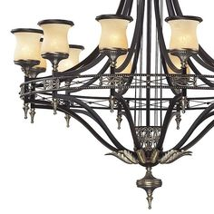The 12-light Georgian Court chandelier is a beautiful statement of timeless stature.  Matching wall sconces can complete a dazzling entry design.