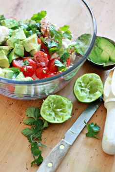 Avocado Chicken Salad with lime & cilantro