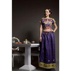 Kettle Print Crop Top + Skirt