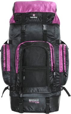 Echt krass  Der Karabar Makalu 120 Pack ist ein besonders großer Reiserucksack für Wanderer oder Aktivfahrer. Es verfügt über ein Hauptfach mit Umschlagdeckel und zwei Seitentaschen mit Reißverschluss für wichtige Dinge wie eine Wasserflasche oder eine kleine Flasche. Es gibt auch mehr Platz mit mehreren Fronttaschen mit Reißverschluss und einer großen Tasche mit Reißverschluss. Mit 120 Litern Fassungsvermögen ist dieser Rucksack groß genug für verschiedene Zwecke und hat Befestigungspunkte… North Face Backpack, The North Face, Backpacks, Bags, Small Bottles, Water Bottle, Side Bags, Hiking, Handbags