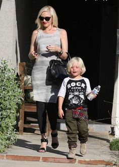 Gwen Stefani takes her son Zuma to a baby shower