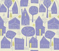wallpaper and fabric en_ville fabric by antoniamanda on Spoonflower - custom fabric