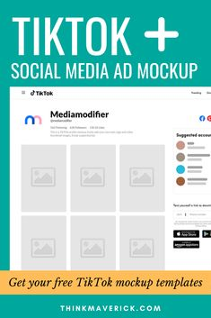 Need a catchy image to grab some attention on social media such as TikTok, Instagram, Facebook, Pinterest, Twitter? Use some of these amazing mockups and templates to Visualize Your Social Media Marketing Campaigns. You can edit everything you want easily. Create social media post ad mockups in seconds and preview how your design looks like in Facebook, Instagram, Youtube, LinkedIn and more. #socialmedia #tiktok #instagram #visualcontent #digitalmarketing