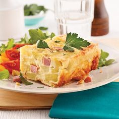 Quiche jambon-fromage sans pâte Brunch, Le Diner, Calzone, Mashed Potatoes, Macaroni And Cheese, French Toast, Cooking Recipes, Breakfast, Ethnic Recipes