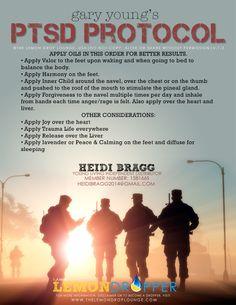 Here's the PTSD essential oils protocol.  http://www.droptalking.com/#!heidi-bragg/c245i