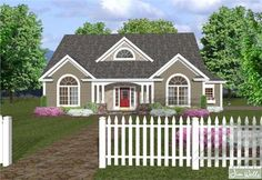 Country Home Plans - Home Design APS-1718