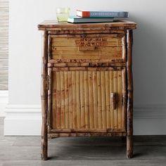 Rattan Bamboo Side Cabinet $300