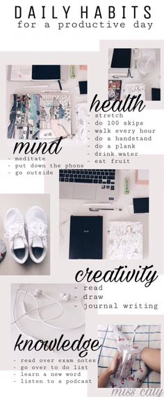 Habits to add to the daily routine for a productive life!