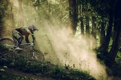 Mountain biking in the morning Giant Trance, Freeride Mountain Bike, Mountain Bike Trails, Downhill Bike, Mtb Bike, Mountain Bike Jerseys, Montain Bike, Bike Photography, Rando