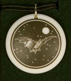 on Black Cord American Alligator Totem Round Porcelain Pendant