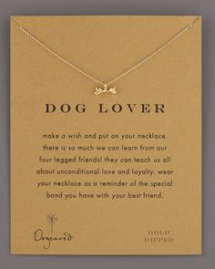 Dog Lover Bone-Pendant Necklace by Dogeared at Neiman Marcus.