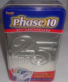 NEW SEALED - DELUXE PHASE 10 25th ANNIVERSARY TIN LIMITED EDITION RUMMY GAME   #Fundex