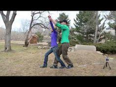 Tandem slacklining! **so much fun**