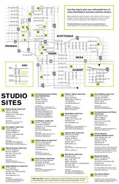 16th Annual Ceramic Studio Tour 2017 - February 25 and 26! So many amazing artists - be sure you don't miss this once-a-year opportunity! #ASUCeramics #Phoenix #ceramics #tour