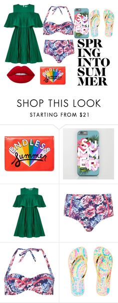 """Spring Into Summer"" by avasheagirl on Polyvore featuring ban.do, Jovonna, Dorothy Perkins, Lilly Pulitzer and Lime Crime"
