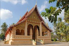 Wat Ong Teu Mahawihan, Vientiane, Laos.
