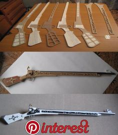 Realizado Con planchas d… Replica of the musket of the manga character Mami Tomoe. Made with MD plates and raft wood. It has a length of 117 cm. and a weight of 650 g. Cosplay Weapons, Cosplay Armor, Cosplay Diy, Armadura Cosplay, Rubber Band Gun, Steampunk Weapons, Steampunk Diy, Foam Armor, Diy Accessoires