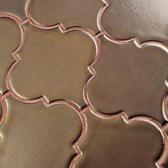 Merola Tile Essence Lantern Burnished Bronze 10-1/2 in. x 10-1/2 in. x 9 mm Porcelain Mosaic Tile-FSDELTBB - The Home Depot