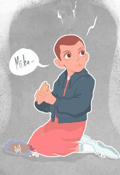 Eleven from Stranger Things by Woodchuck Maudevan