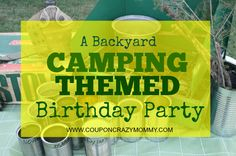 """Check out these clever ideas for a Kid's Backyard """"Camping"""" Themed Birthday Party. It's affordable and tons of fun!"""