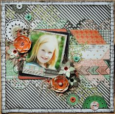 Mix and Match Scrapbook Pages! Denise van Deventer used several of the new BoBunny collections to create this stunning project. Can you guess which ones? #BoBunny, @Denise van Deventer