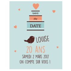Invitation 20 ans fille
