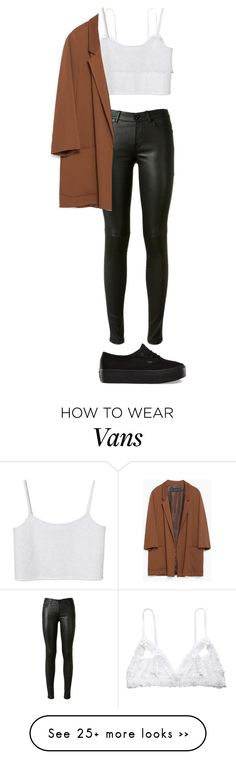"""Untitled #217"" by makeupbylibby on Polyvore featuring Yves Saint Laurent, Hanky Panky, Monki, Zara and Vans"