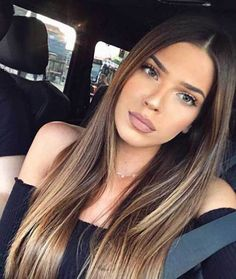33 blonde or caramel balayage ideas for gorgeous hair - Trend Silver Hair Makeup 2019 Ombre Hair Color, Cool Hair Color, Ombre Hair Brunette, Bayalage Brunette, Brunette Blonde Highlights, Balayage Hair Brunette Caramel, Brunette Makeup, Gorgeous Hair, Beautiful Beautiful