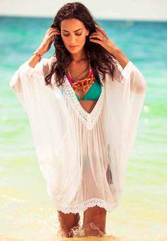 Ondademar White Beach Cover Up - Lilylola Beachwear Boutique