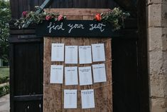 Rustic Table Plan - Fern Edwards Photography | Chic Outdoor Wedding at Chateau Rigaud France
