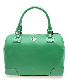 Look at this #zulilyfind! Emerald City Robinson Leather Midi Satchel #zulilyfinds