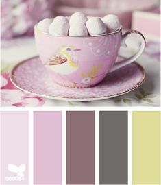 Tea Time Tones palette by Design Seeds Colour Pallette, Color Palate, Colour Schemes, Color Patterns, Color Combos, Design Seeds, Palette Pastel, World Of Color, Color Swatches