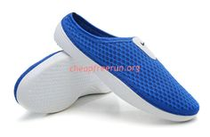 2013 Mens Nike Beach Sandals Wholesale For Men Royal Blue White