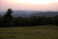 Skyline Drive in the Blue Ridge Mountains, Virginia.