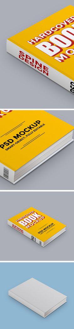 Free Hardcover Book PSD Mockup (6.21 MB) | GraphicsFuel | #free #photoshop #mockup