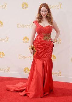 The 2014 Emmy Awards: The Best Dressed Celebrities -Christina Hendricks