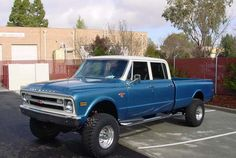 1969 Chevy Crew Cab. Ok thats my truck for sure. Crew cab for all the friends lifted Hell Yeah!!!
