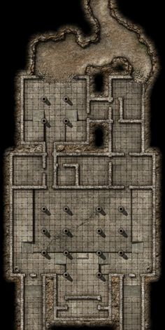 Dungeon Tiles, Dungeon Maps, Dnd World Map, Fantasy City Map, Rpg Map, Building Map, Map Layout, Lovecraftian Horror, Dnd Art