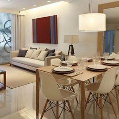 Sala de estar e jantar integradas   O ambiente ficou clássico e cheio de estilo. Projeto Yamagata Arquitetura