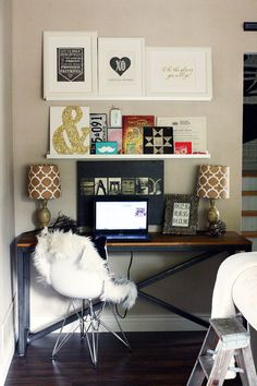home office space + art display