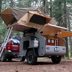 Van het padje af met de TerraDrop OffRoad! Meer op playboy.nl #terradrop #offroad #oregontrailer #caravan #campingtrailer